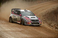 Travis Pastrana racing in Rally America, Salem Missouri 22 2014 Royalty Free Stock Photography