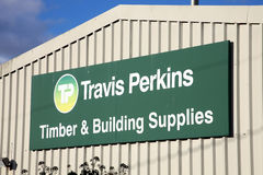 Travis Perkins reklamowy znak Obrazy Royalty Free