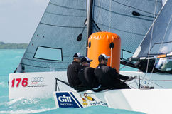 Travis Weisleder's Lucky Dog finishes 3rd at Melges 20 World Cha Stock Photos