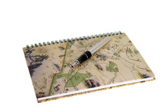 Travl diary Stock Image