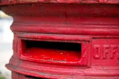 travle красного цвета postbox Норвегии Стоковая Фотография