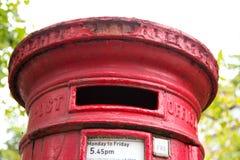 travle красного цвета postbox Норвегии Стоковое Изображение