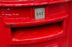 travle красного цвета postbox Норвегии Стоковое Изображение RF