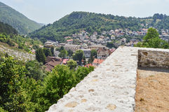Travnik-old town in Bosnia and Hercegovin. The view from castle in Travnik,Bosnia and Hercegovin Stock Photo