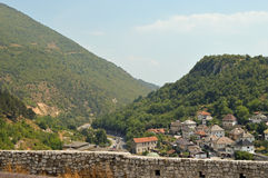 Travnik-old town in Bosnia and Hercegovin. The view from castle in Travnik,Bosnia and Hercegovin Stock Photos