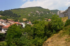 Travnik-old town in Bosnia and Hercegovin. The wiew from old castle in Travnik,Bosnia and Hercegovin Stock Photo