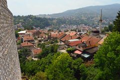 Travnik-old town in Bosnia and Hercegovin. The wiew from old castle in Travnik,Bosnia and Hercegovin Royalty Free Stock Images