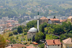 Travnik-old town in Bosnia and Herzegovina. The view from castle in Travnik,Bosnia and Herzegovina Royalty Free Stock Images