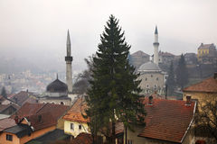 Travnik. Panoramic view. Bosnia and Herzegovina Royalty Free Stock Photography