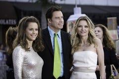 Travolta, Pfeiffer, Preston kombiniertes 1 Stockbild
