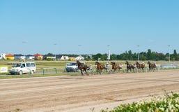 Travsport på den Karlshorst löparbanan Fotografering för Bildbyråer