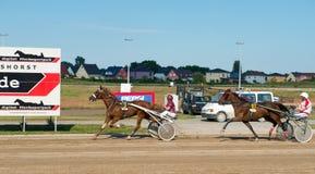 Travsport på den Karlshorst löparbanan Royaltyfri Fotografi