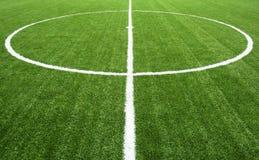 traw śródpolne zielone liny piłka nożna Zdjęcia Stock