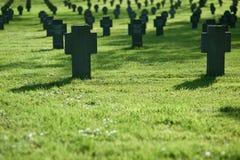 trawa cmentarniany zmierzch Obrazy Stock