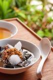 Trawa galaretowy deser, ziołowy gelatin, Chiński styl Obrazy Stock