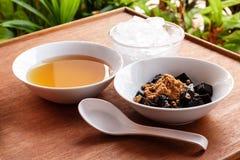 Trawa galaretowy deser, ziołowy gelatin, Chiński styl Obrazy Royalty Free