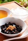 Trawa galaretowy deser, ziołowy gelatin, Chiński styl Fotografia Stock