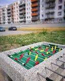 trawa gracza, piłka nożna zapałczana Fotografia Stock