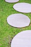 Trawa i cement półcyrkłowi Zdjęcia Stock