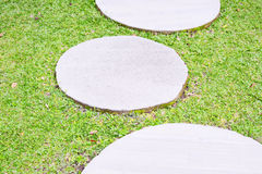 Trawa i cement półcyrkłowi Zdjęcie Stock