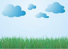 Trawa i niebo Obrazy Stock