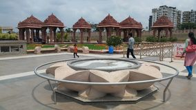 Trawa krajobrazu projekt świątynia obraz stock