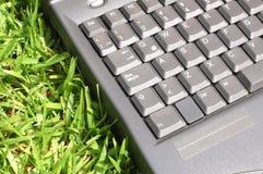 trawa laptop Fotografia Royalty Free