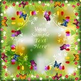 Trawa z kwiatami Obrazy Royalty Free