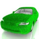 Trawa zakrywający samochód - eco zieleni transport Zdjęcie Stock