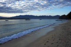 Trawangan island beach at morning, Bali, Indonesia. Gili Islands Stock Image