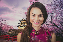 Trawel Chine de femme Images stock