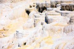 Trawertynów tarasy w Pamukkale i baseny Zdjęcia Royalty Free