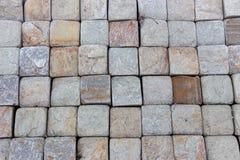Trawertynu dachówkowy ceramiczny, mozaika kwadrata projekta bezszwowa tekstura zdjęcia stock