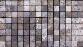 Trawertynu dachówkowy ceramiczny, mozaika kwadrata projekta bezszwowa tekstura obraz royalty free