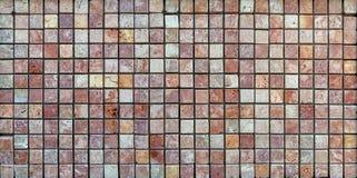 Trawertynu dachówkowy ceramiczny, mozaika kwadrata projekta bezszwowa tekstura zdjęcie stock