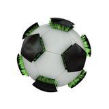 Trawiasta piłki nożnej piłka. Obrazy Stock