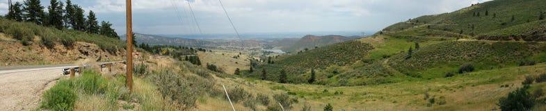 Trawiaste góry w Północnym Kolorado Zdjęcia Stock