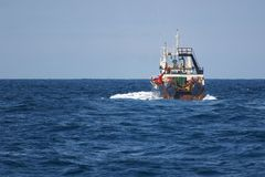 Trawl Fishing. Sea Fish Vessel Fisheries Stock Photography