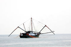 Trawler. Working in the sea Royalty Free Stock Photography