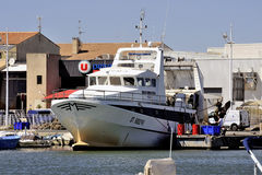 Trawler docked in the port of Le Grau-du-Roi Royalty Free Stock Images