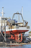 Trawler in dry-dock Royalty Free Stock Photo