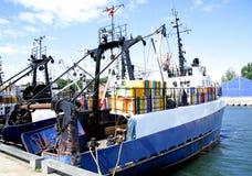 Trawler equipement fishing boat. Trawler equipment fishing boat marine Royalty Free Stock Photography