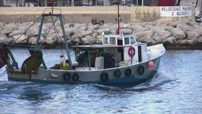 Trawler fishing boat stock video footage