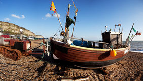 Trawler fishing boat industry Hastings England Royalty Free Stock Photography