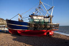 Free Trawler Fishing Boat Industry Hastings England Stock Photo - 23011060