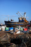 Trawler fishing boat industry Hastings England Stock Photos