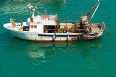 Trawler Fishing Boat - Liguria Italy Royalty Free Stock Photography