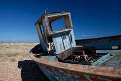 Trawler fishing boat wreck derelict Stock Images