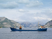 Trawler in the Fjords. Trawler in the Lysefjord, near the city of Stavanger Stock Photography