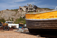 Trawler hastings fishing Royalty Free Stock Image